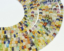"4 to 4.5mm 15.5"" line Multi Gemstone beads MIXB08"