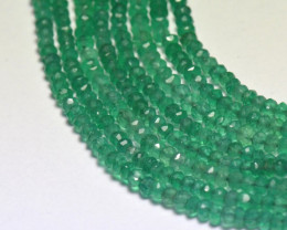"3mm 13.5"" GREEN ONYX faceted beads AAA ONXG02"