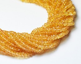 "SALE 3mm 13.5"" MADEIRA CITRINE AAA faceted beads CIT011"