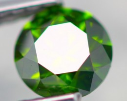 0.58Ct FANCY SPARKLING VIVID GREEN COLOR Natural Diamond VVS