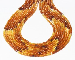 "SALE 3mm HESSONITE GARNET beads 14"" line mixed AAA HSG002"