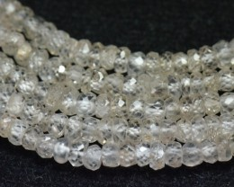 "SALE 3.5mm 13.5"" White Zircon faceted beads AA ZIR005"