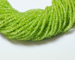 "3mm 13.5"" Peridot AAA faceted beads PER004  NEW STOCK"