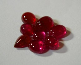 VERY NICE PARCEL OF 8 NATURAL RUBY CABOCHONS 8,64CTS