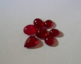 VERY NICE PARCEL OF 7 NATURAL RUBY CABOCHONS 12,33CTS