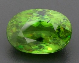 CERT 5.84ct Yellowish GREEN SPHENE Titanite Madagascar