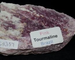 PINK TOURMALINE SLAB BRAZIL (GR357)