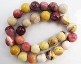 455 Cts Strand Mookatite 12 mm Beads  GG 1799