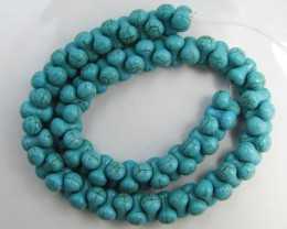 400 Cts  TURQUOISE COLORED HOWLITE STRAND   GG1859