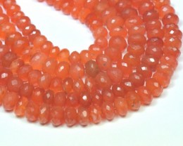 "5mm - 7mm 9"" line CARNELIAN AA Grade faceted beads CAR05"