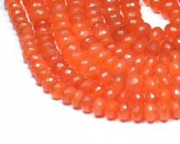 "9mm - 10mm 9"" line CARNELIAN AA Grade faceted beads CAR06"