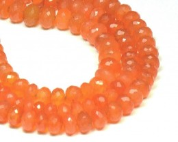 "6mm - 8mm 9"" line CARNELIAN AA Grade faceted beads CAR08"