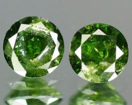NATURAL GREEN DIAMOND-3.00MM,0.28 CTS, 2PCS, NR