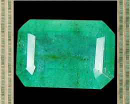 1.05 CT STUNNING TOP FIRE 100%NATURAL OCTAGON EMERALD ZAMBIA
