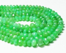 """8"""" 6mm-10mm CHRYSOPRASE AUSTRALIAN faceted beads ch007"""