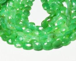 "16"" 7-9mm dark CHRYSOPRASE AUSTRALIAN oval beads ch009"