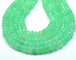 """16"""" 3mm - 7mm CHRYSOPRASE AUSTRALIAN roundelle beads ch012"""