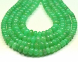"16"" 4mm to 8mm CHRYSOPRASE AUSTRALIAN roundelle beads AAA ch013"
