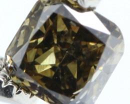 [NR]# SPARKLING GREENISH BROWN NATURAL DIAMOND 0.44Cts