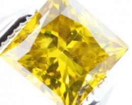 TOP RARE SPARKLING CANARY YELLOW NATURAL DIAMOND 1.02Ct