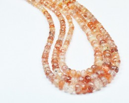 4mm-7mm 16 inch line of sunstone beads