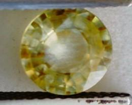 1.75ct Brilliant Round Yellow Zircon Cambodia VVS THA18