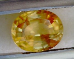 1.70ct Brilliant Oval Yellow Zircon Cambodia VVS THA19 F49