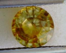 1.5ct Sparkling Round Yellow Zircon Cambodia VVS THA20