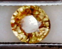 1.35ct Brilliant Round Yellow Zircon Cambodia VVS THA23 F52
