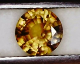 1.05ct Brilliant Round Yellow Zircon Cambodia VVS THA24 F53