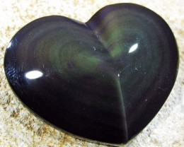 30.06 CTS  RAINBOW OBSIDIAN HEARTS -IRIDESCENCENT [MGW4102]