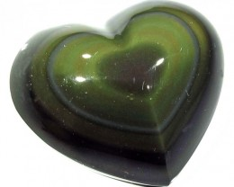 69.65 CTS  RAINBOW OBSIDIAN HEARTS -IRIDESCENCENT [MGW4103]