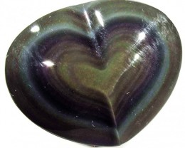 31.38 CTS  RAINBOW OBSIDIAN HEARTS -IRIDESCENCENT [MGW4104]