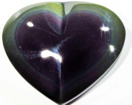 26.22 CTS  RAINBOW OBSIDIAN HEARTS -IRIDESCENCENT [MGW4109]
