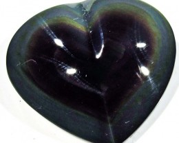 41.28 CTS  RAINBOW OBSIDIAN HEARTS -IRIDESCENCENT [MGW4113]