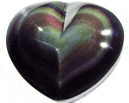 40.73 CTS  RAINBOW OBSIDIAN HEARTS -IRIDESCENCENT [MGW4115]