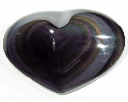 29.83 CTS  RAINBOW OBSIDIAN HEARTS -IRIDESCENCENT [MGW4116]