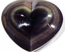 50.59 CTS  RAINBOW OBSIDIAN HEARTS -IRIDESCENCENT [MGW4119]