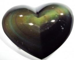 42.10 CTS  RAINBOW OBSIDIAN HEARTS -IRIDESCENCENT [MGW4120]