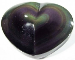 39.99 CTS  RAINBOW OBSIDIAN HEARTS -IRIDESCENCENT [MGW4125]