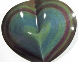 23.46 CTS  RAINBOW OBSIDIAN HEARTS -IRIDESCENCENT [MGW4126]