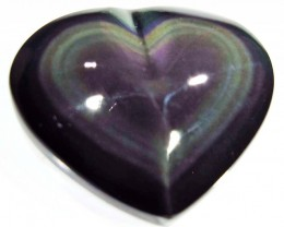 30.02 CTS  RAINBOW OBSIDIAN HEARTS -IRIDESCENCENT [MGW4129]