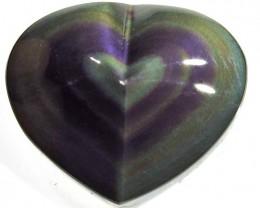 26.52 CTS  RAINBOW OBSIDIAN HEARTS -IRIDESCENCENT [MGW4130]