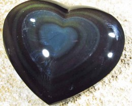 33.98 CTS  RAINBOW OBSIDIAN HEARTS -IRIDESCENCENT [MGW4131]