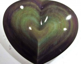 31.98 CTS  RAINBOW OBSIDIAN HEARTS -IRIDESCENCENT [MGW4132]