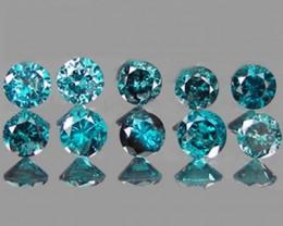 NATURAL BLUE DIAMOND-1.50MM,0.24 CTS, 10PCS NR