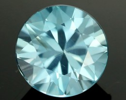 2.20 cts CERT  Diamond Cut Blue Zircon (ZCB31)