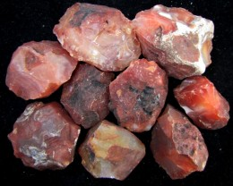 329GRAMS  MADAGASCAR CARNELIAN 9 PCS  ROUGH GG 2112