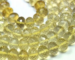 "7-15mm 16"" AAA Beer Citrine faceted roundelles beads CIT012"