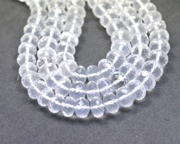 "5mm 8mm 16"" Diamond Ice Quartz roundelle beads Dqr02"